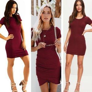 𝐖𝐈𝐍𝐃𝐒𝐎𝐑- 🆕 Burgundy Mini Dress
